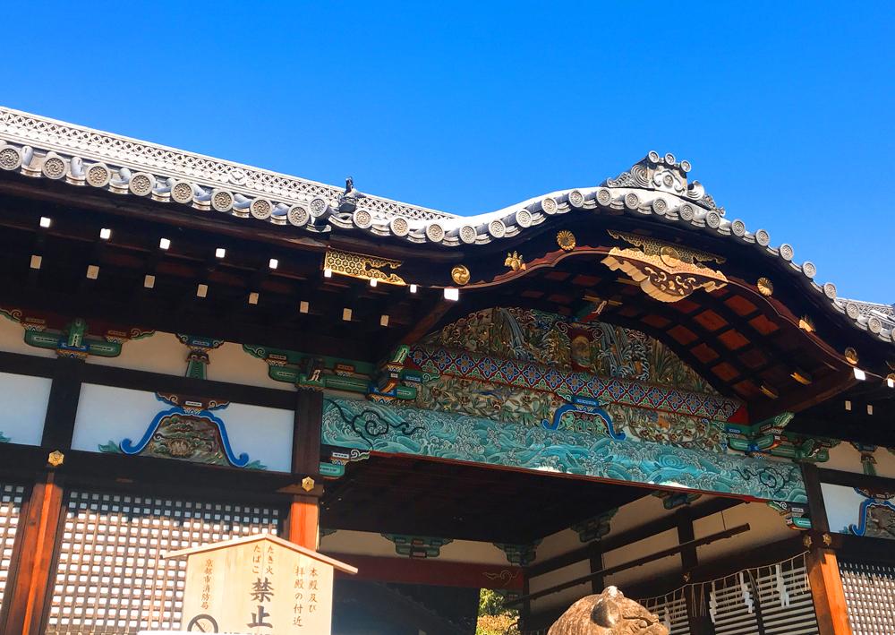 御香宮神社拝殿の門