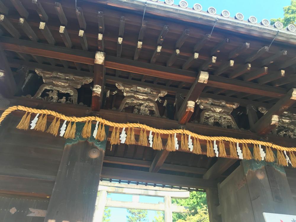 御香宮神社の表門