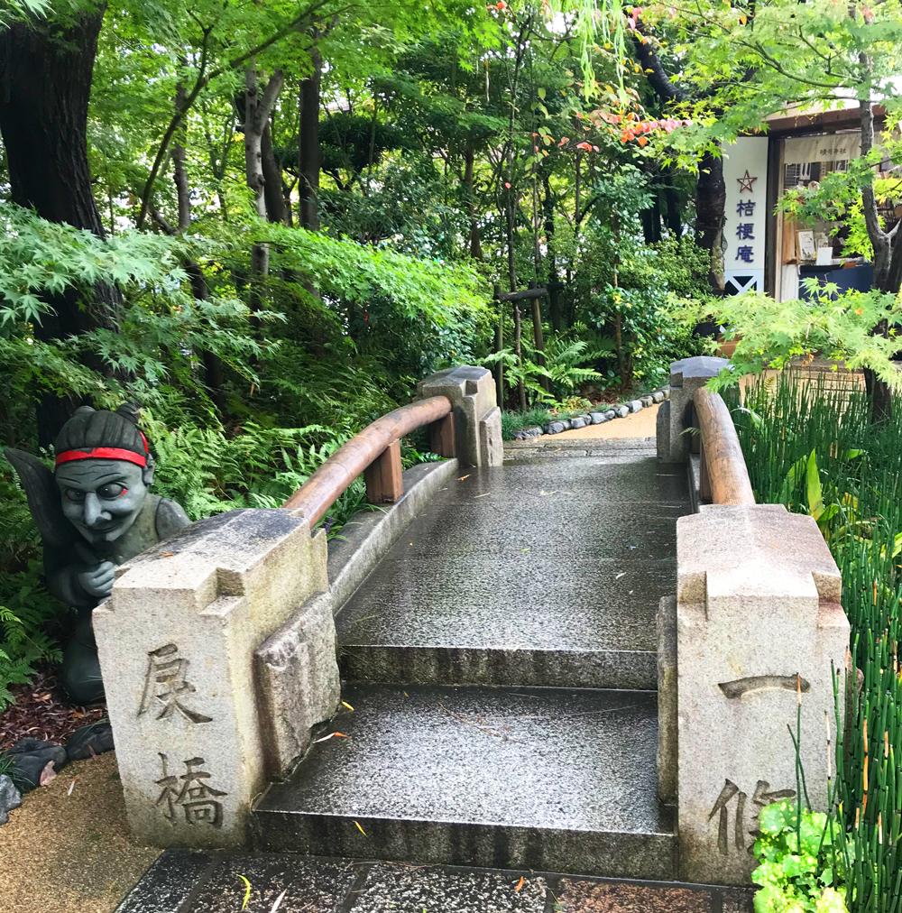 晴明神社の一条戻り橋のミニチュア
