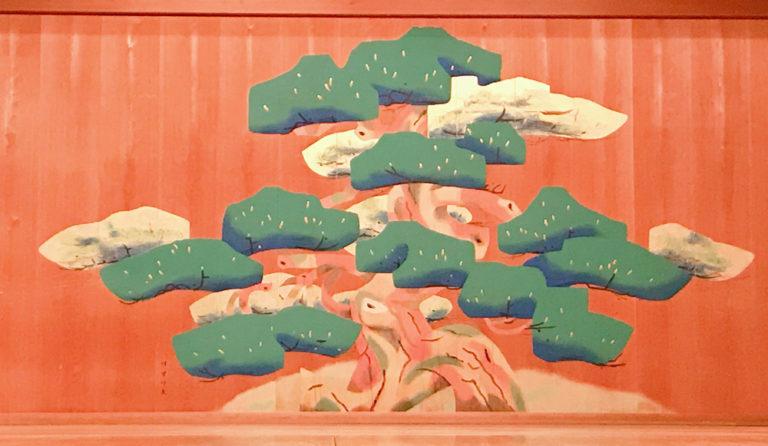 京都観世会館、能舞台の松