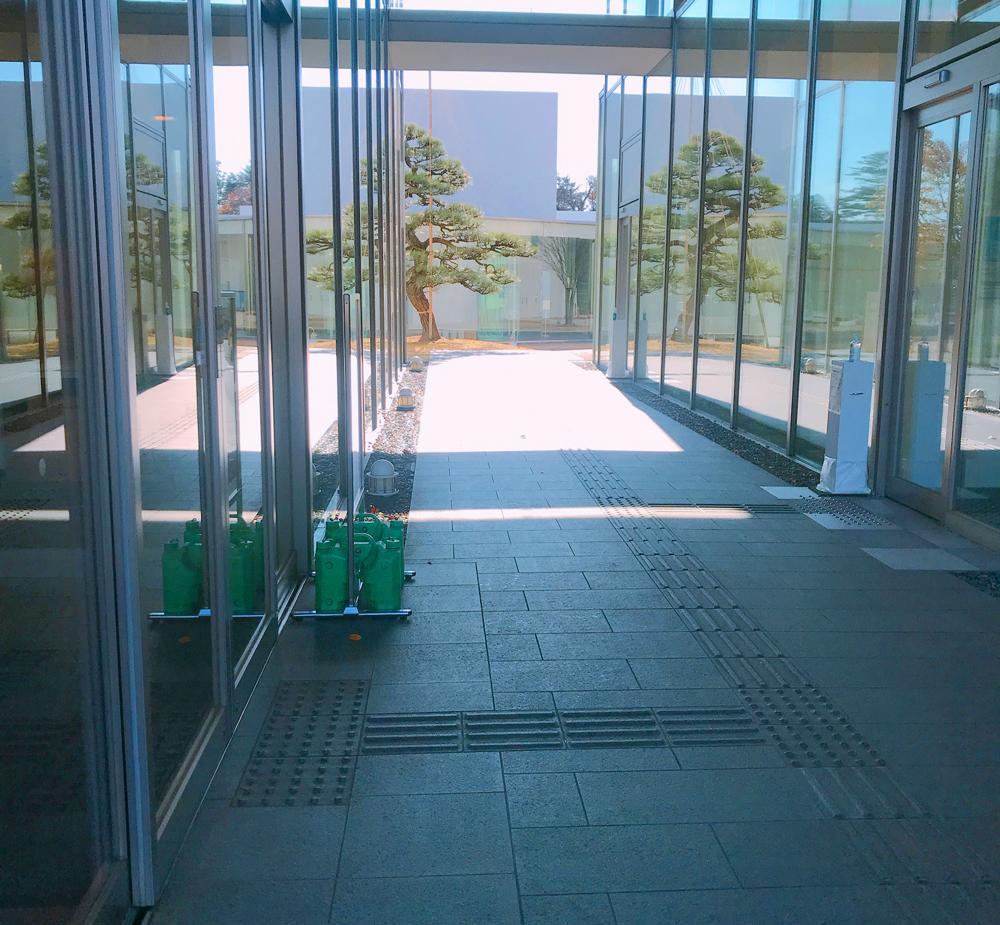 金沢能楽美術館の通路