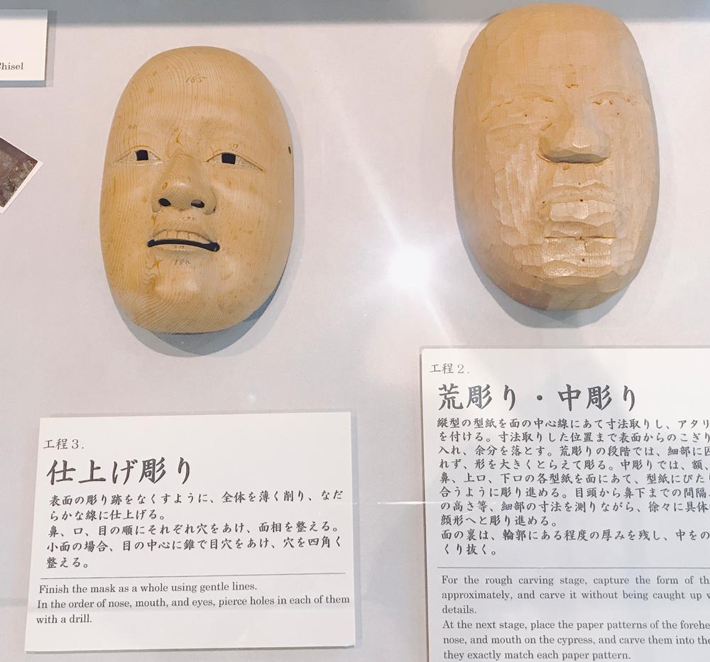 金沢能楽美術館 能面の制作工程