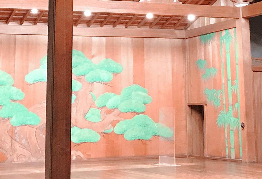 能舞台の竹