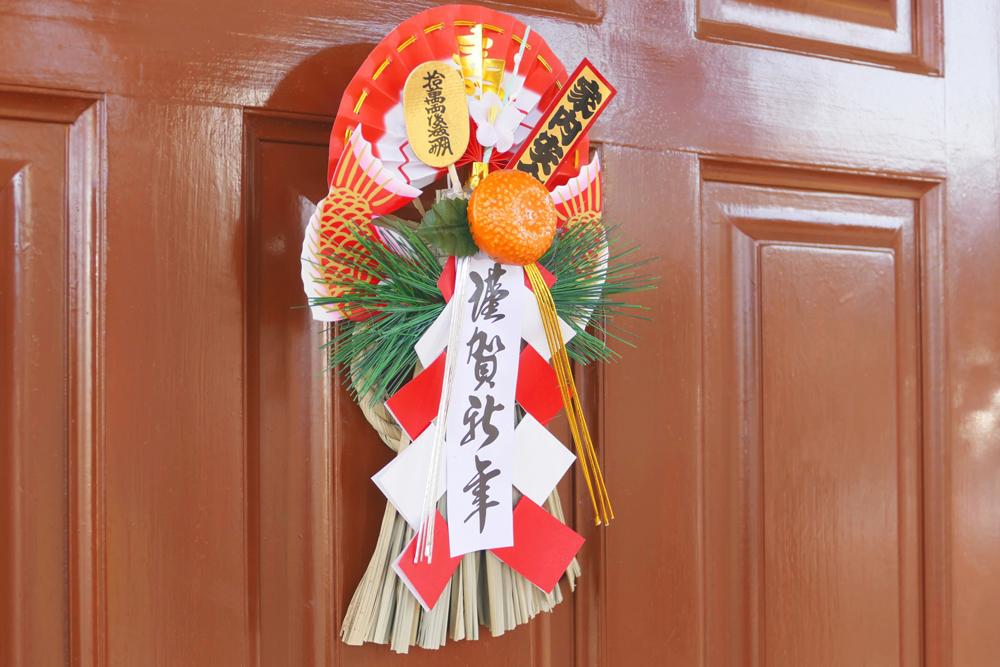 玄関のしめ飾り
