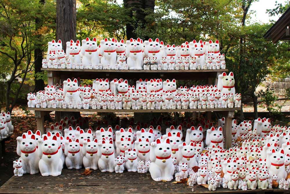 豪徳寺に奉納された招き猫
